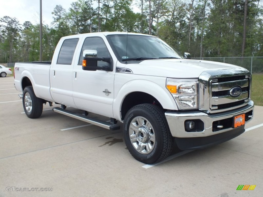 2012 white platinum metallic tri coat ford f350 super duty. Black Bedroom Furniture Sets. Home Design Ideas