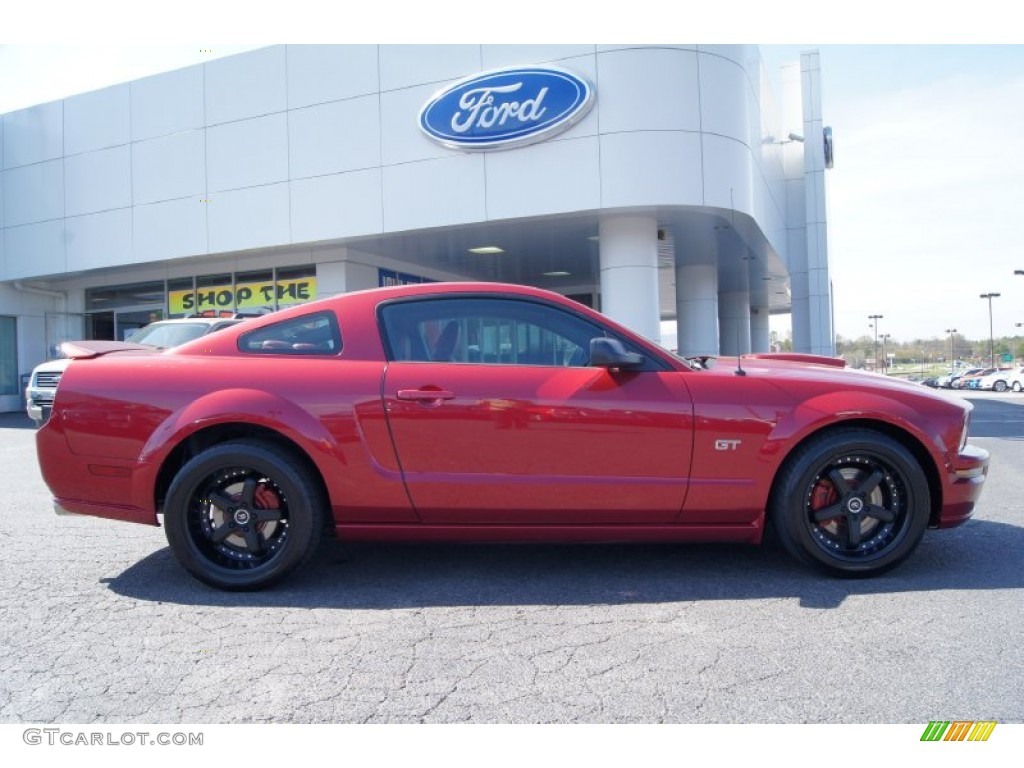 2007 Mustang GT Premium Coupe - Redfire Metallic / Black/Red photo #1