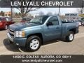 Blue Granite Metallic 2007 Chevrolet Silverado 1500 LT Z71 Regular Cab 4x4