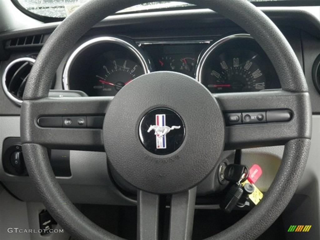 2008 Ford Mustang V6 Premium Coupe Light Graphite Steering