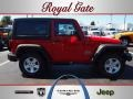 2012 Flame Red Jeep Wrangler Sport S 4x4  photo #1