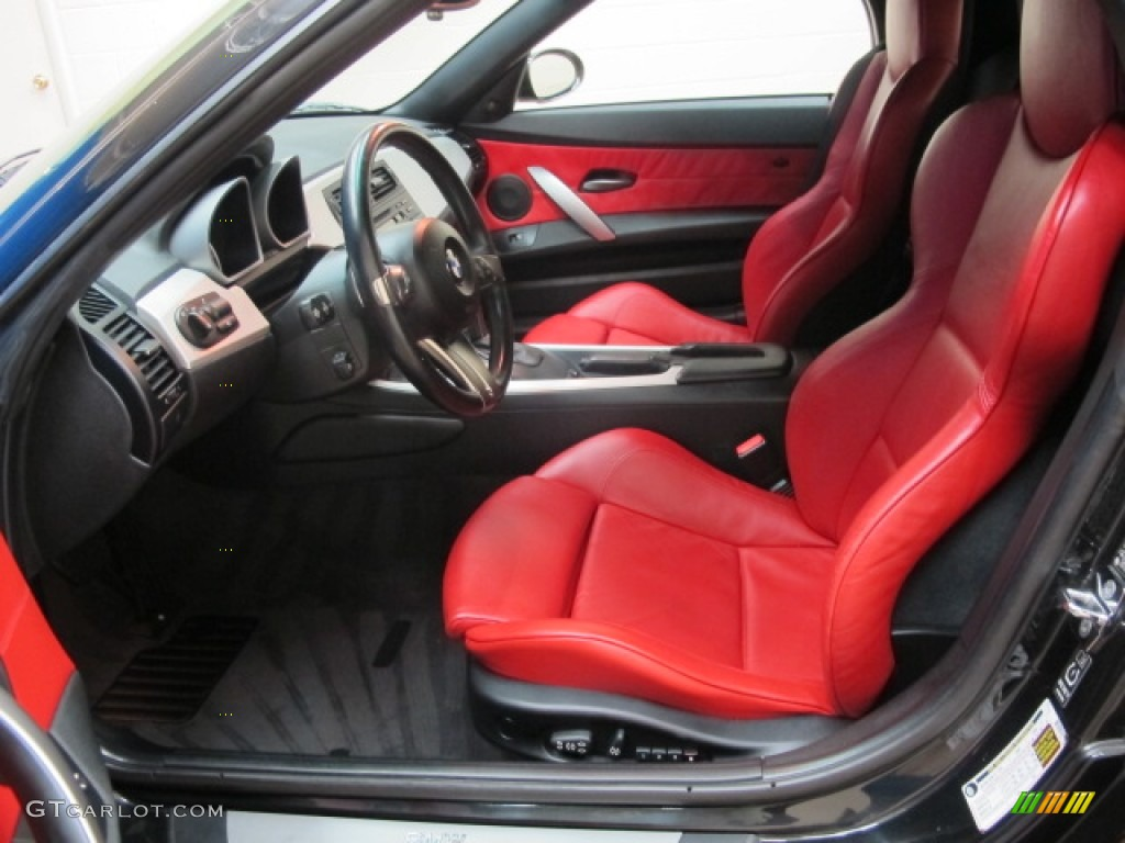 Dream Red Interior 2006 Bmw Z4 3 0si Roadster Photo
