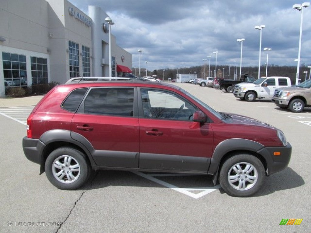 mesa red 2006 hyundai tucson gls v6 4x4 exterior photo. Black Bedroom Furniture Sets. Home Design Ideas
