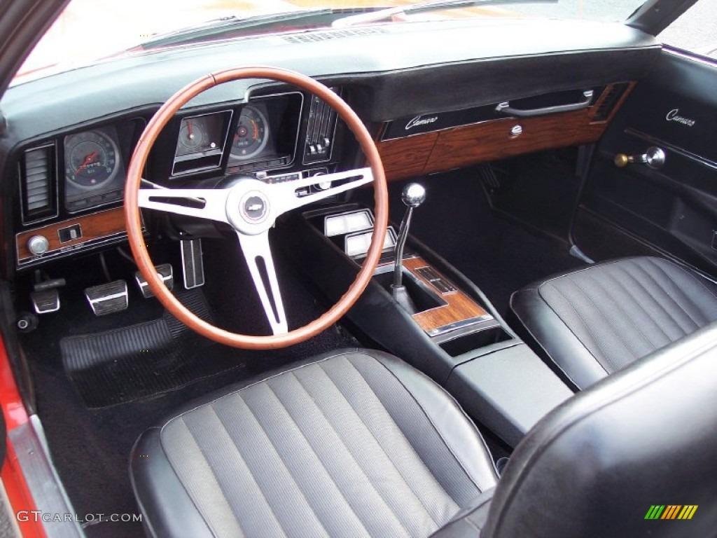 Black Interior 1969 Chevrolet Camaro RS/SS Convertible Photo #62480598