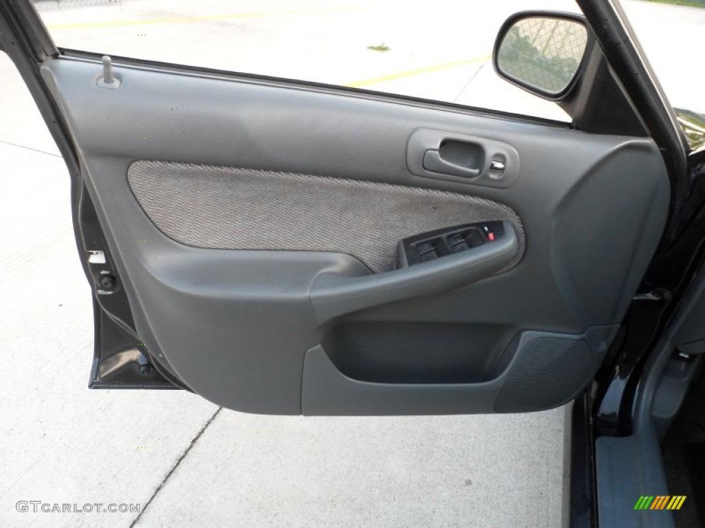 1998 Honda Civic Lx Sedan Gray Door Panel Photo 62487244