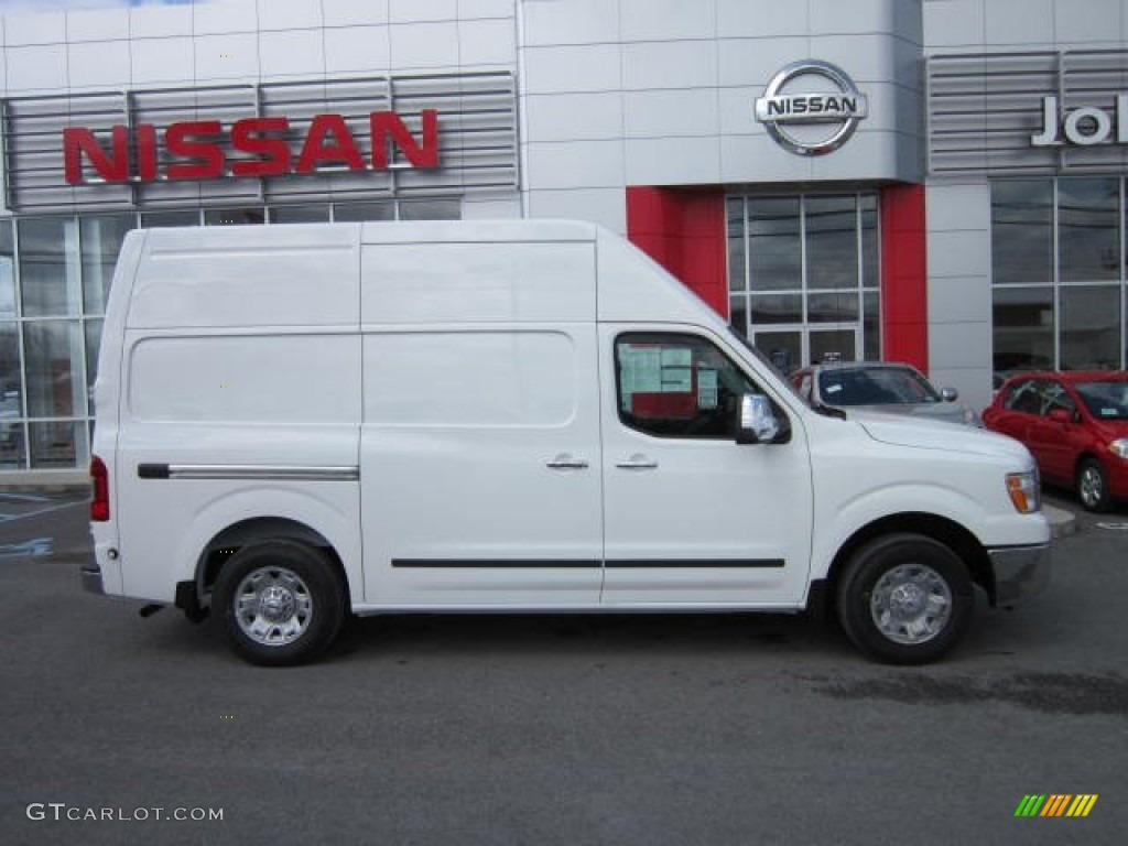 blizzard white 2012 nissan nv 2500 hd sv high roof exterior photo 62488813. Black Bedroom Furniture Sets. Home Design Ideas