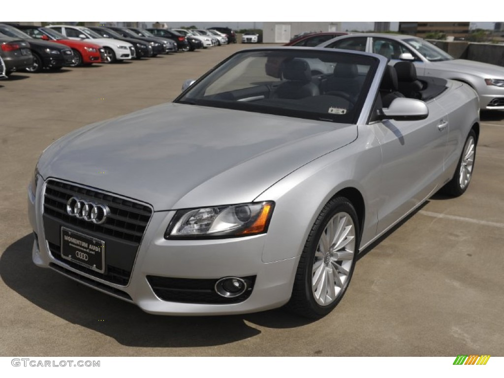 ice silver metallic 2012 audi a5 2 0t cabriolet exterior photo 62494029. Black Bedroom Furniture Sets. Home Design Ideas