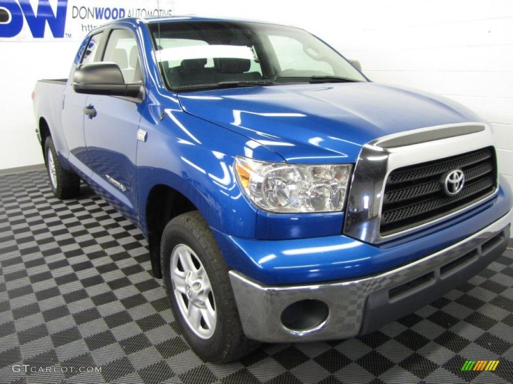 2008 Tundra Double Cab 4x4 - Blue Streak Metallic / Graphite Gray photo #1