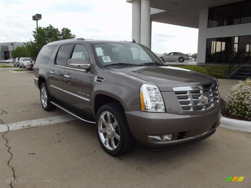 2012 mocha steel metallic cadillac escalade esv luxury. Black Bedroom Furniture Sets. Home Design Ideas