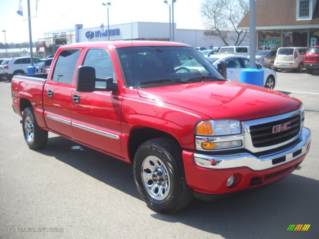 2006 Fire Red Gmc Sierra 1500 Sle Crew Cab 4x4 62508013 Gtcarlot Com Car Color Galleries