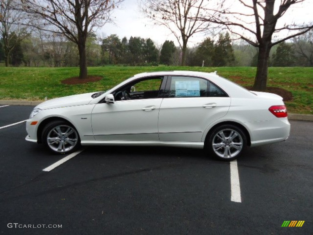Arctic white 2012 mercedes benz e 350 4matic sedan for 2012 mercedes benz e350 4matic