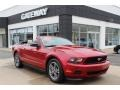 2011 Red Candy Metallic Ford Mustang V6 Premium Convertible  photo #3