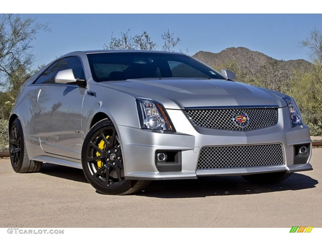 Radiant Silver Metallic 2011 Cadillac Cts V Coupe