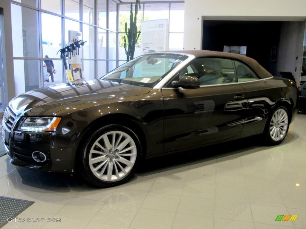 teak brown metallic 2012 audi a5 2 0t quattro cabriolet exterior photo 62549167. Black Bedroom Furniture Sets. Home Design Ideas