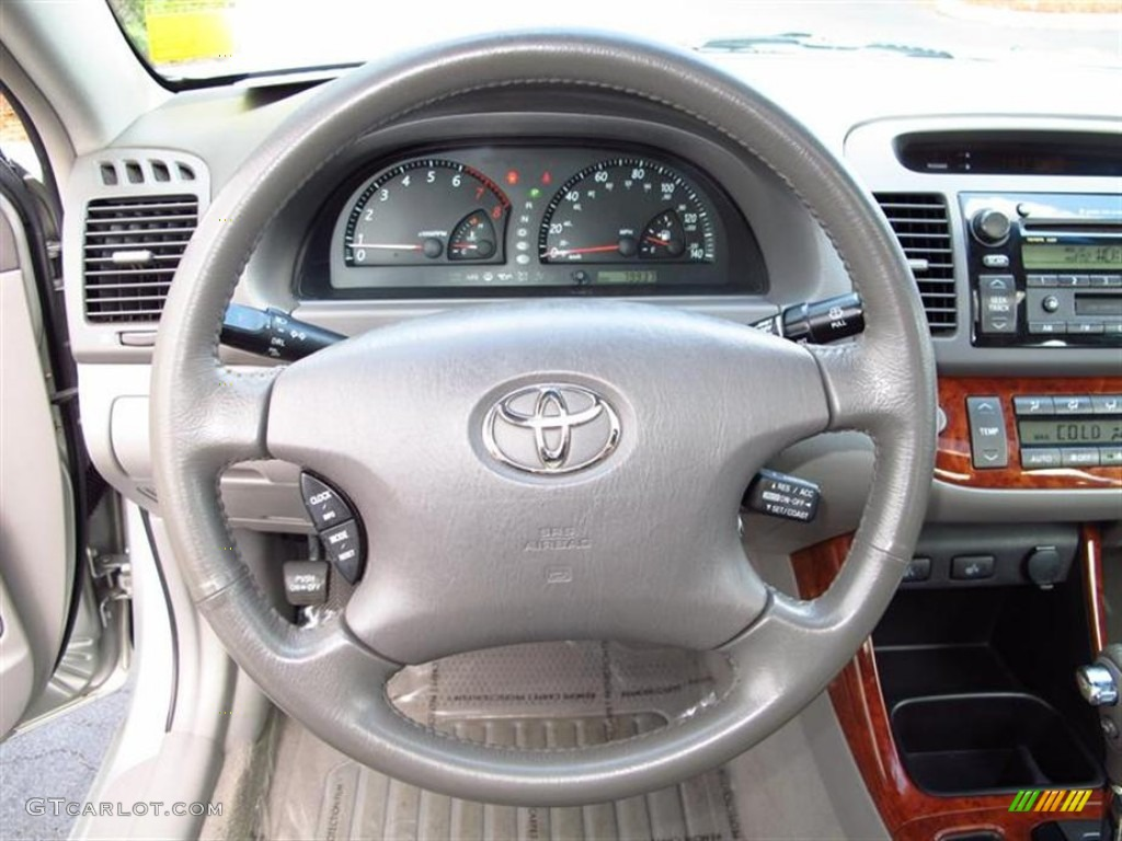 2002 Toyota Camry Xle V6 Stone Steering Wheel Photo
