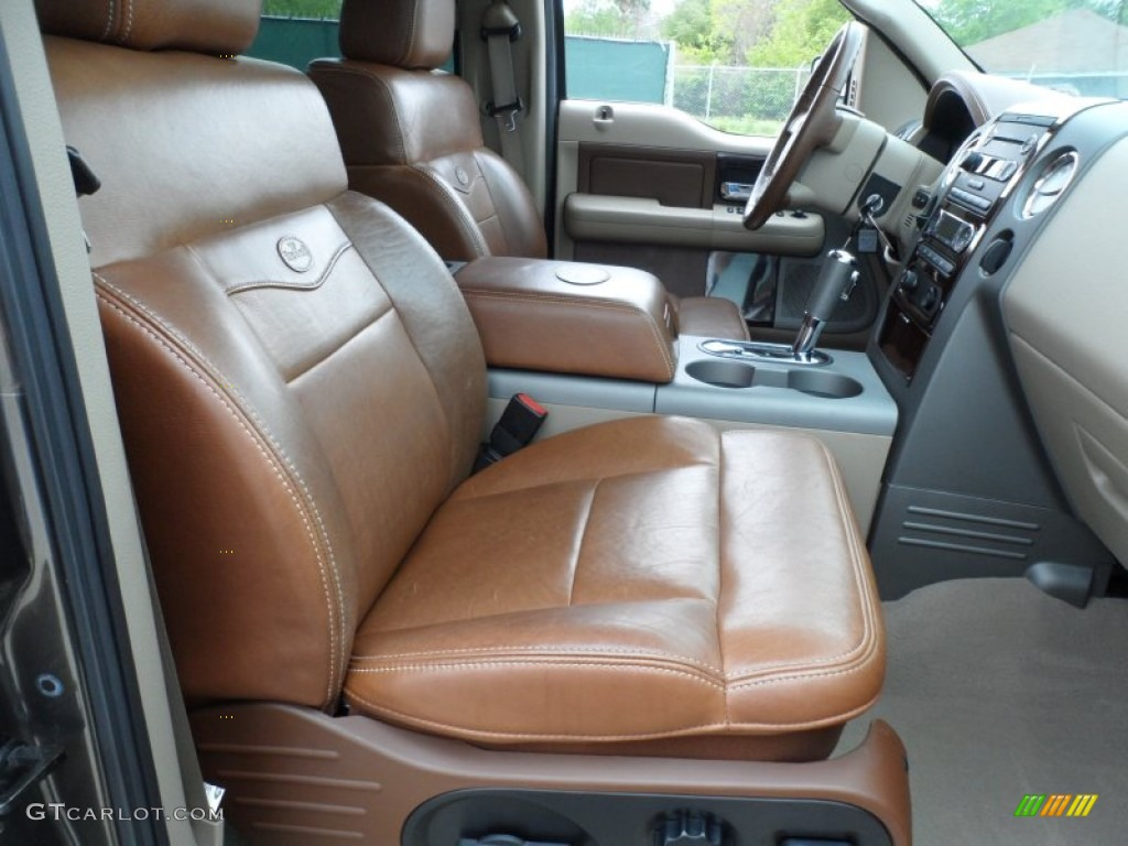Tan/Castaño Leather Interior 2008 Ford F150 King Ranch SuperCrew Photo  #62569464
