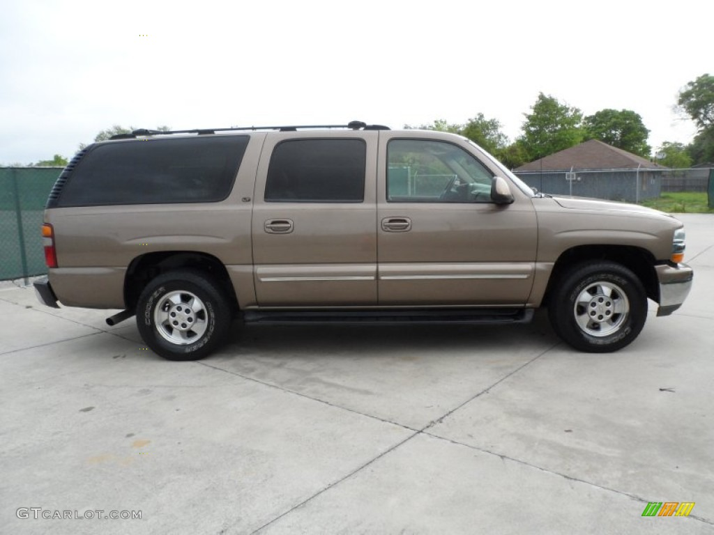 Sandalwood metallic 2003 chevrolet suburban 1500 lt exterior photo