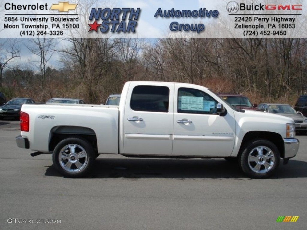 2012 Silverado 1500 LT Crew Cab 4x4 - White Diamond Tricoat / Ebony photo #1
