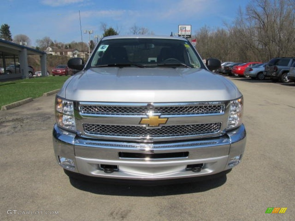 2012 Silverado 1500 LT Extended Cab 4x4 - Silver Ice Metallic / Ebony photo #6