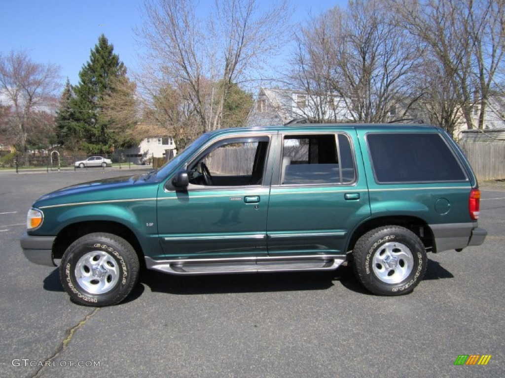 tropic green metallic 1999 ford explorer xlt 4x4 exterior. Black Bedroom Furniture Sets. Home Design Ideas