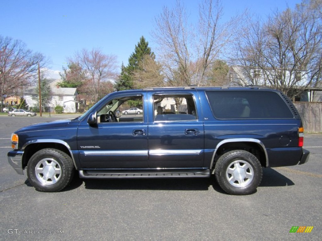 deep blue metallic 2004 gmc yukon xl 1500 slt 4x4 exterior photo 62612316. Black Bedroom Furniture Sets. Home Design Ideas