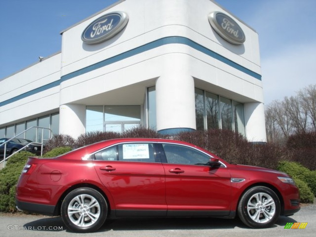 Ruby red metallic 2013 ford taurus sel awd exterior photo 62617701