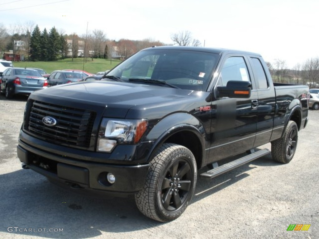 Tuxedo black metallic 2012 ford f150 fx4 supercab 4x4 exterior photo 62618642