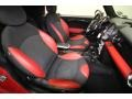 Black/Rooster Red Interior Photo for 2009 Mini Cooper #62620094