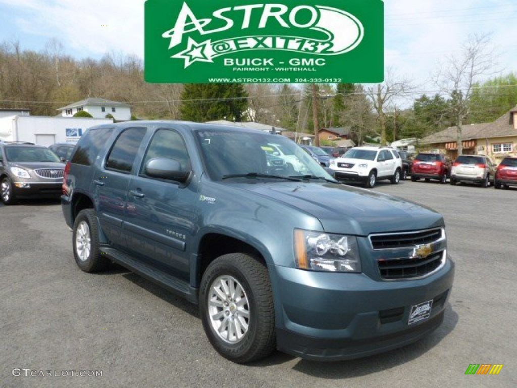 2009 Blue Granite Metallic Chevrolet Tahoe Hybrid 4x4 62596708