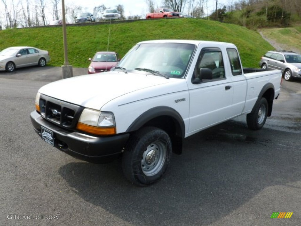 oxford white 1998 ford ranger xl extended cab 4x4 exterior. Black Bedroom Furniture Sets. Home Design Ideas