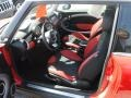 Black/Rooster Red Interior Photo for 2009 Mini Cooper #62637440