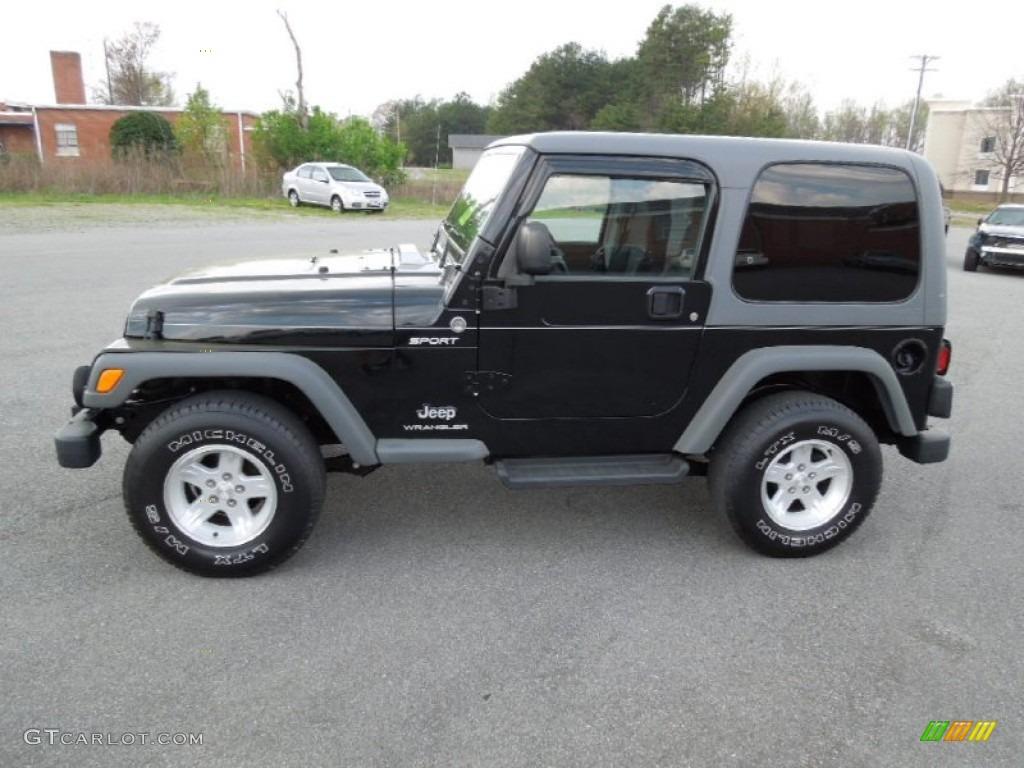 Good Black 2005 Jeep Wrangler Sport 4x4 Exterior Photo #62652953