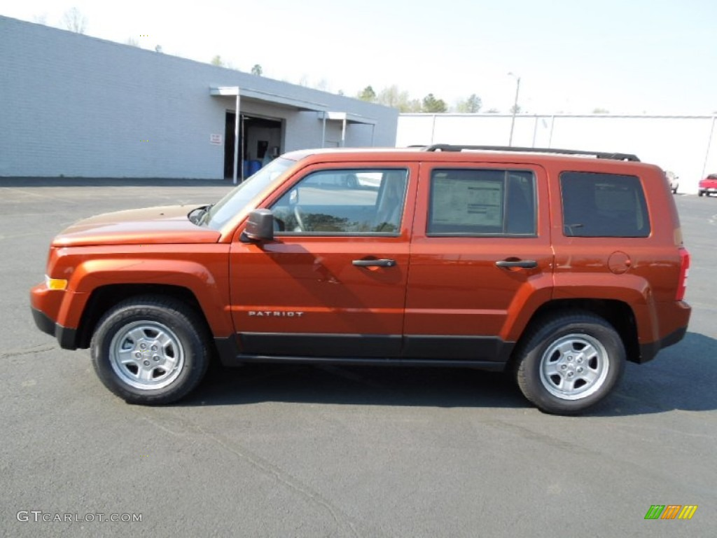 copperhead orange pearl 2012 jeep patriot sport exterior. Black Bedroom Furniture Sets. Home Design Ideas
