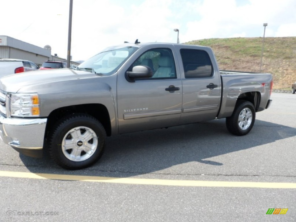 2012 Silverado 1500 LT Crew Cab 4x4 - Graystone Metallic / Light Titanium/Dark Titanium photo #1