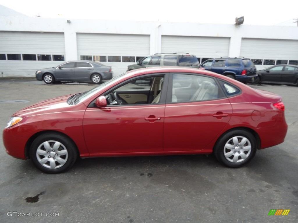 Apple Red Pearl 2008 Hyundai Elantra Gls Sedan Exterior Photo 62683609 Gtcarlot Com