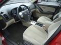 Beige 2008 Hyundai Elantra Interiors