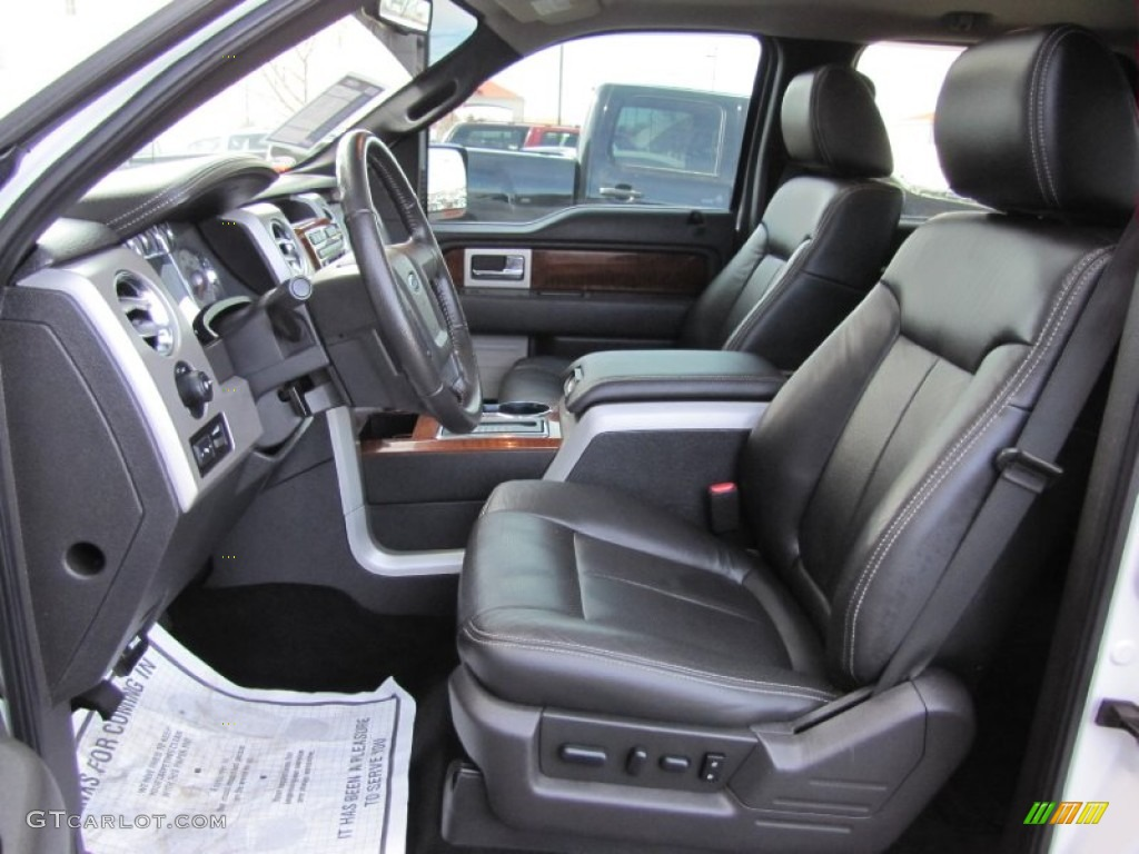 Black Interior 2010 Ford F150 Lariat SuperCrew 4x4 Photo ...