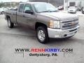 2012 Mocha Steel Metallic Chevrolet Silverado 1500 LT Extended Cab 4x4  photo #1
