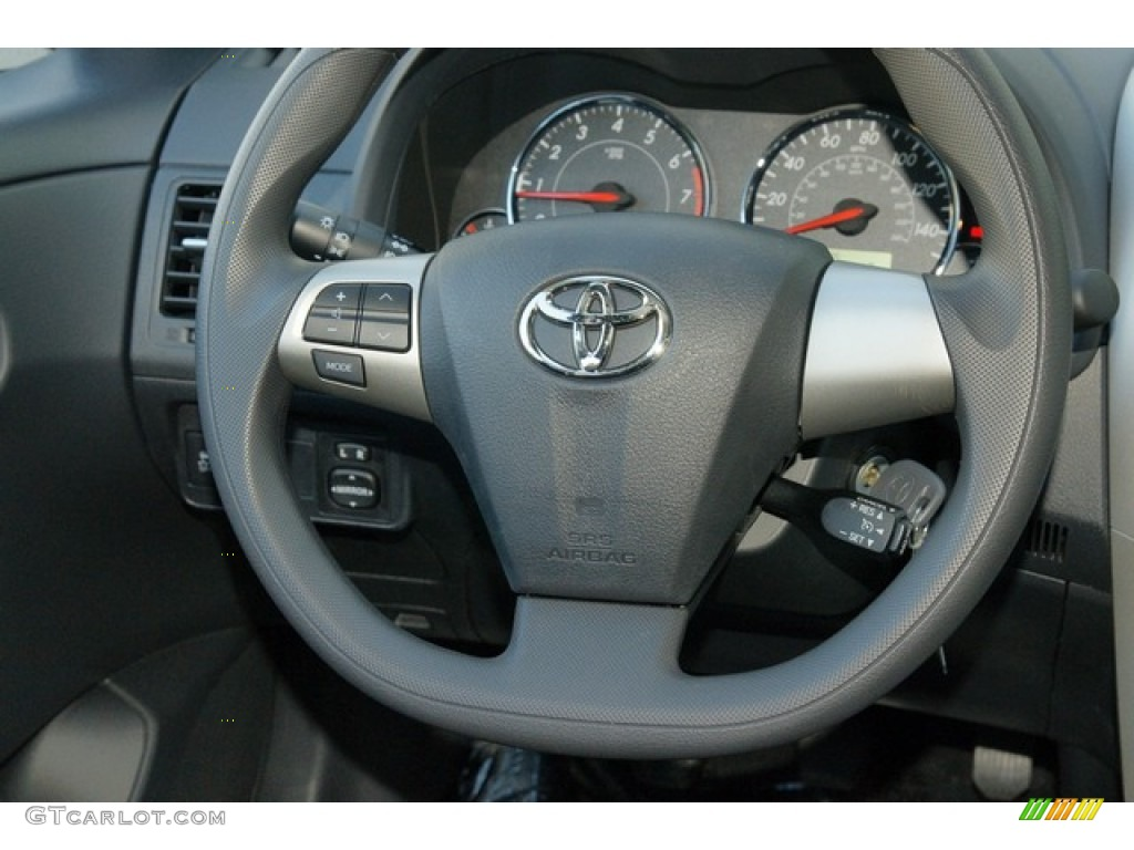 2012 toyota corolla s dark charcoal steering wheel photo. Black Bedroom Furniture Sets. Home Design Ideas