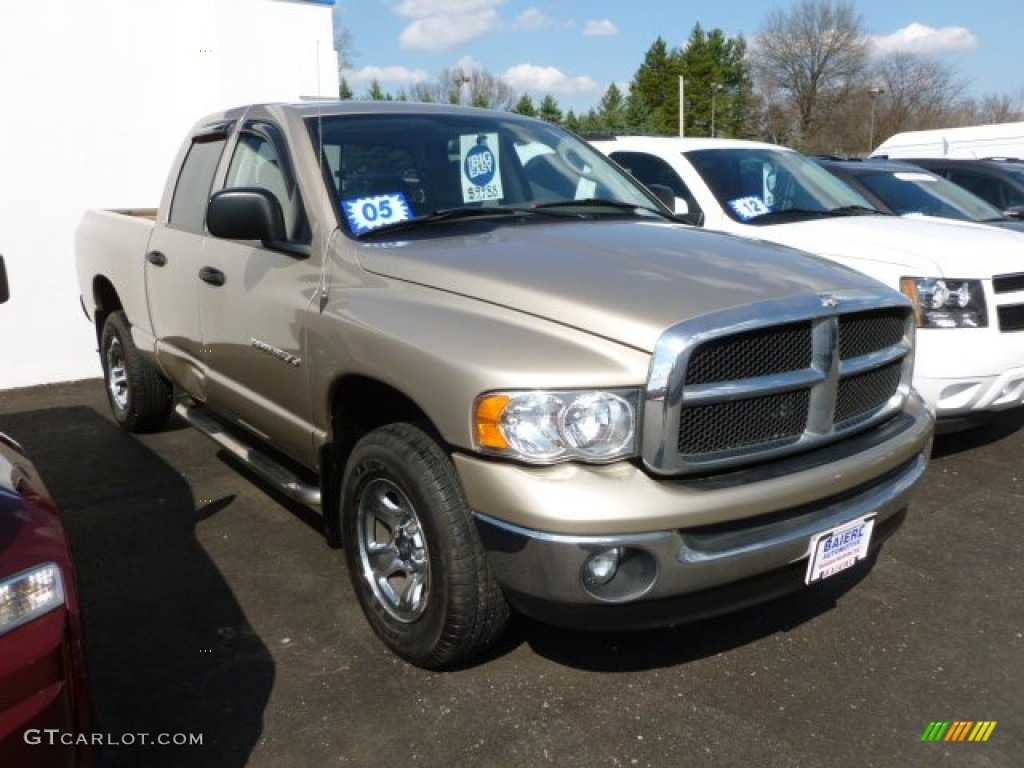 2005 Ram 1500 SLT Quad Cab 4x4 - Light Almond Pearl / Taupe photo #1