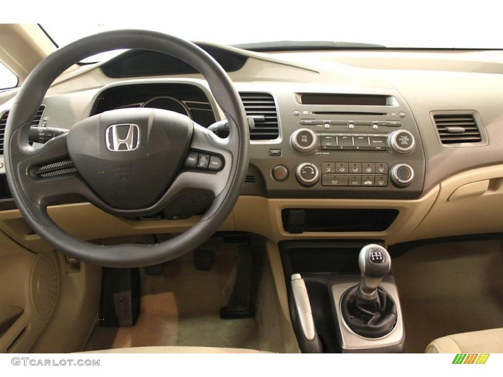 2008 Honda Civic LX Sedan Ivory Dashboard Photo #62719222 ...