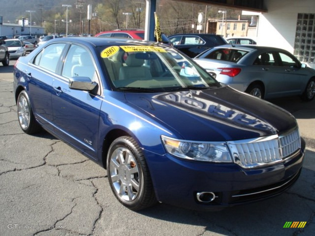 dark blue pearl metallic 2007 lincoln mkz awd sedan. Black Bedroom Furniture Sets. Home Design Ideas