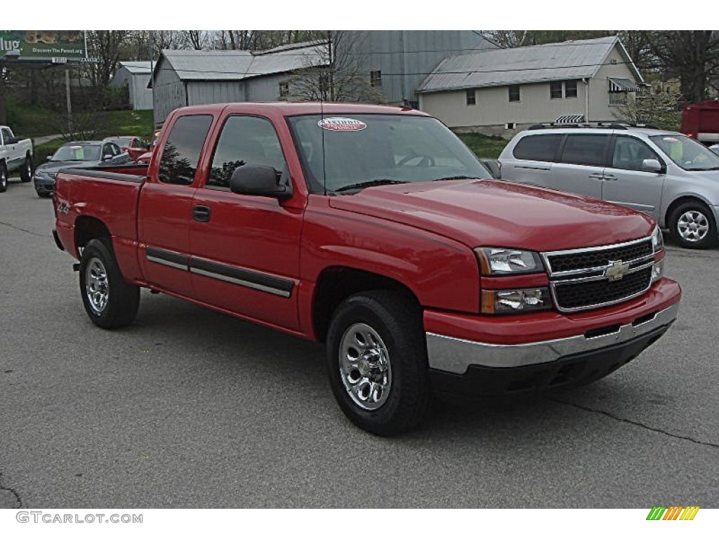2007 victory red chevrolet silverado 1500 classic lt extended cab 4x4 62714939. Black Bedroom Furniture Sets. Home Design Ideas