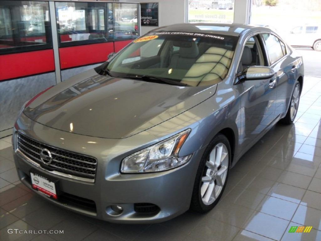 2009 Nissan Maxima Sv >> 2009 Precision Gray Metallic Nissan Maxima 3.5 SV Sport #62714938 | GTCarLot.com - Car Color ...