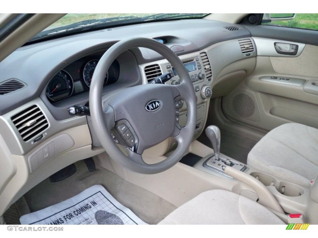 Superb Beige Interior 2007 Kia Optima LX Photo #62758594