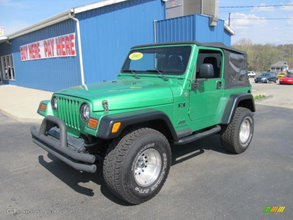2005 electric lime green pearl jeep wrangler x 4x4 #62758310