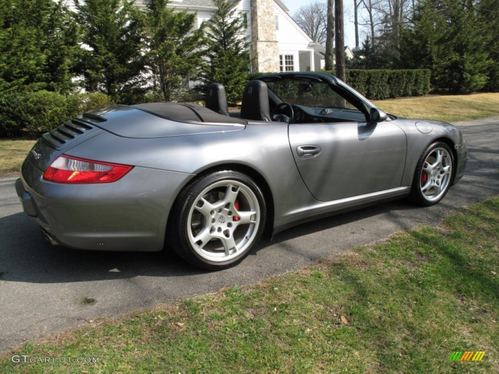 seal grey metallic 2006 porsche 911 carrera 4s cabriolet. Black Bedroom Furniture Sets. Home Design Ideas