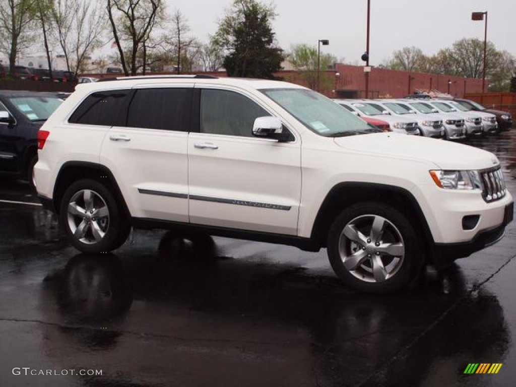 2012 stone white jeep grand cherokee overland 4x4 62758189 photo 2. Cars Review. Best American Auto & Cars Review