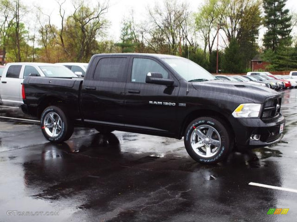 black 2012 dodge ram 1500 sport crew cab 4x4 exterior photo 62789397. Black Bedroom Furniture Sets. Home Design Ideas