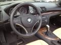 2009 BMW 1 Series Savanna Beige/Black Boston Leather Interior Dashboard Photo